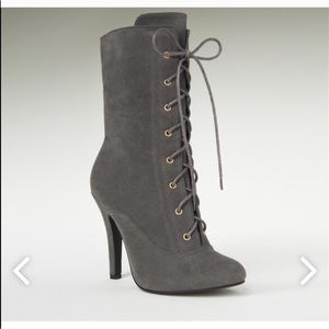 Beautiful gray booties